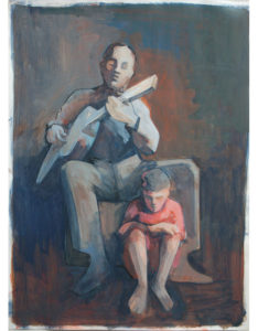 Guitar Player with Child - acryl on paper   2015